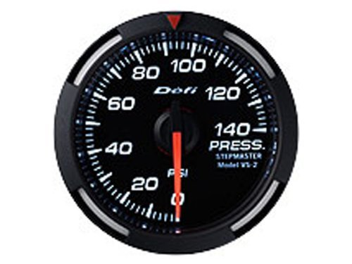 Defi Link Gauges (Defi DF06603 Racer Fuel/Oil Pressure Gauge, White, 52mm)