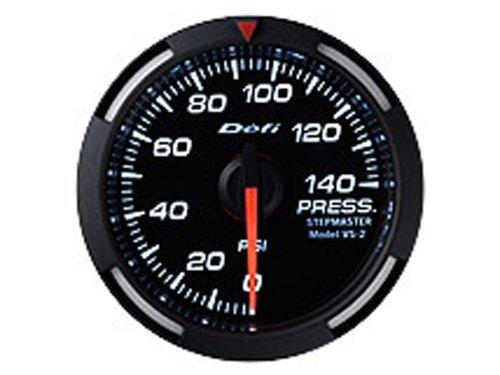 Defi DF06603 Racer Fuel/Oil Pressure Gauge, White, 52mm