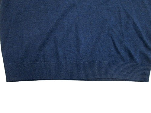 Turnbury Extra Fine Merino Wool Ocean Navy Heather L/S V-Neck Sweater Large by Turnbury (Image #3)
