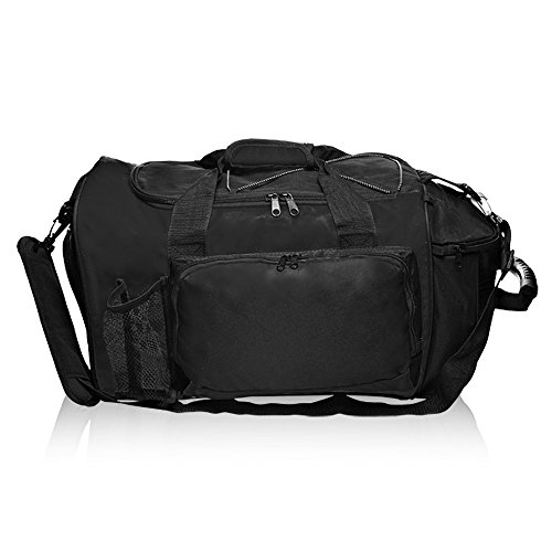 - Deluxe Sports Duffel Bag, Black