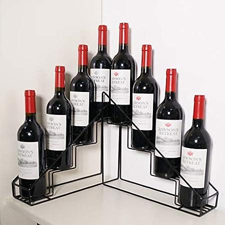 FPigSHS Armarios para Vino Estantería de Vino Arte de Hierro Estante Casa Barra de Bar Escritorio Vinoteca Comercial Vitrina de Vino Pequeña cuadrícula