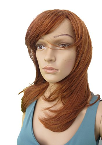 New Style Wig Perruque Long Natural Fire Red Ginger (style Esme) [Misc.] Synthetic (Long Ginger Wig)