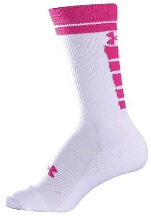 Under Armour Men's Zagger Crew Socks - X-Large, White/Bright Pink
