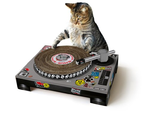 SUCK UK Cat Scratching DJ Deck (Record Player Scratcher)
