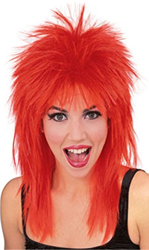 (Rubie's Rock Star Spiked Wig, Red, One Size)