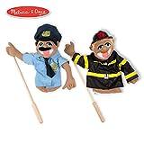 Melissa & Doug Rescue Puppet Set - Police Officer & Firefighter