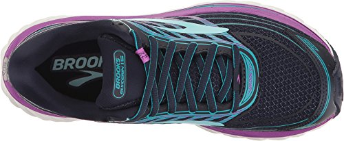 Brooks Women's Glycerin 15 Evening Blue/Purple Cactus Flower/Teal Victory 8.5 D US by Brooks (Image #1)