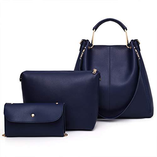 Cm Blue Bolso Cuero W37h33d14 De Black Mujer Para Señora 0Bq4xawzq8
