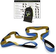 Gradient Fitness Stretching Strap, Premium Quality Multi-Loop Strap, Neoprene Padded Handles, 12 Loops, 1.5&qu