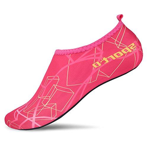 L-RUN Women's Swimming Pool Footwear Women Sports Shoes Summer Shoes Pink L(W:8.5-9.5)=EU39-40