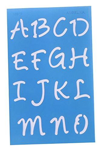 Westcott Letter Craft Lettering Stencil, Angelina Script, 3/4'' & 1'', Transparent (15817) by Westcott