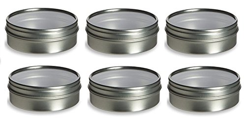 Nakpunar Tin Containers (2 oz Clear Top - Round - Style 2, Silver) (Box Round Tin)