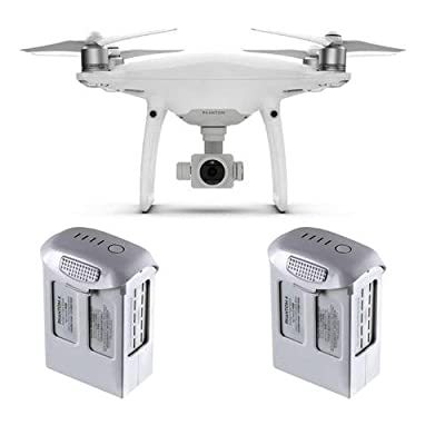 DJI Phantom 4 Pro Quadcopter Drone with Standard Remote Controller - With Spare DJI Intelligent Flight Battery