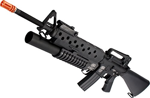 Evike G&P Scar Face M16A3 M16 VN Airsoft AEG Rifle w/M203 Grenade Launcher (Package: Gun (Airsoft Grenade Launchers)