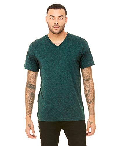 Yoga Clothing For You Mens Tri Blend V-Neck Tee Shirt, XS Emerald