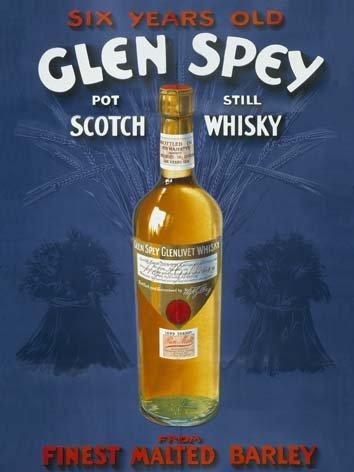 Original metals signs - Glen Spey Whisky - 15x20cm