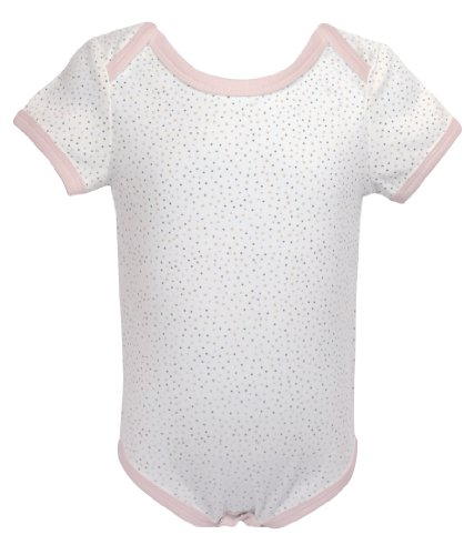 - Stephan Baby All-in-One Diaper Cover with Pink Trim, Little Lamb Pin-Dot, Newborn