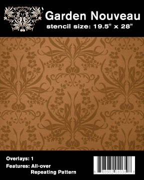 - Faux Like a Pro Garden Nouveau Wallpaper Stencil, 19.5 by 28-Inch, Single Overlay (4034)