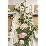 Lings-moment-5FT-Handcrafted-Artificial-Rose-Flower-Runner-Rustic-Flower-Garland-Floral-Arrangements-Wedding-Party-Table-Decoration-Garland