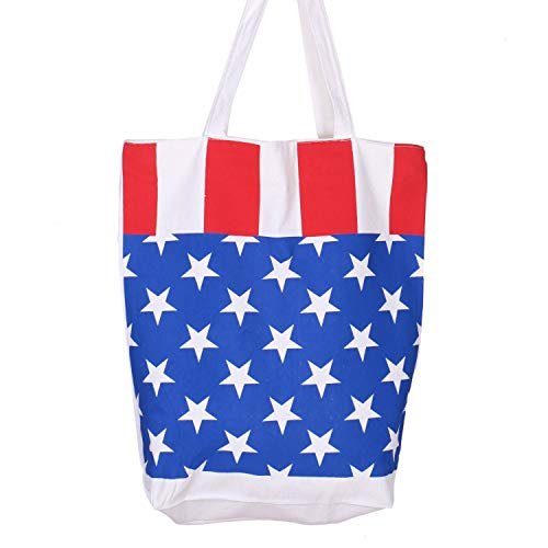 JETEHO Canvas Tote Bag Shopping Bag Star Pattern Printed Tote Bag with Zipper for Women Girls