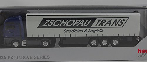 Herpa 922838 MAN TGX XXL Gardinenplanensattelzug 'Zschopau Trans' B019RZEWWU Autos Großhandel | Charakteristisch