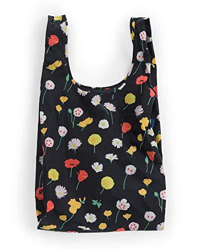 BAGGU Large Reusable Shopping Bag, Foldable Ripstop Nylon Tote for Laundry or Shopping, Desert Wildflower