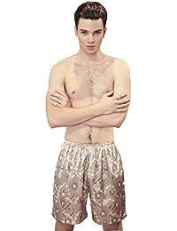 Mens Satin Boxers Shorts Pajama Set Underwear Beach Shorts