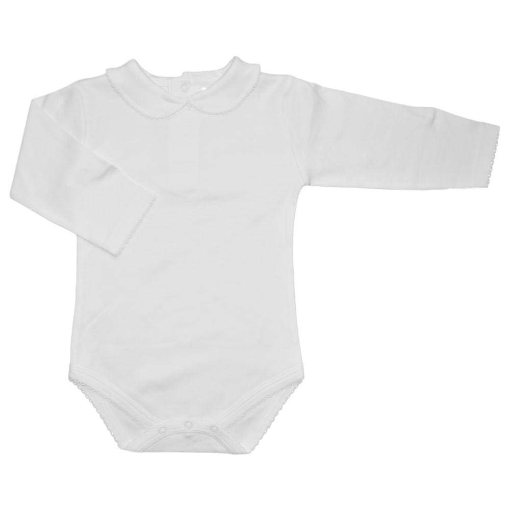 5b3d6ba17 Amazon.com: CARLINO Peter Pan Collared Bodysuit - Long Sleeve, Extra Soft,  6 Colors Available: Clothing