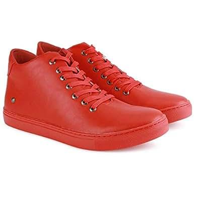 Numero Uno TMSECI19 Leather Sneakers For Men (Red)