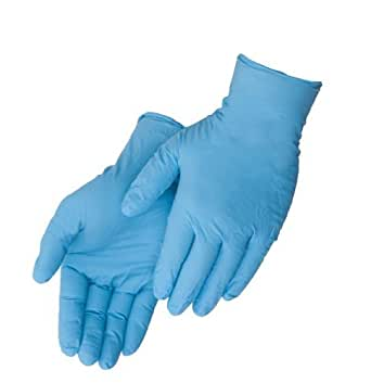Liberty T2010W Nitrile Industrial Glove, Powder Free, Disposable, 4 mil Thickness, Small, Blue Box of 100 (2-Pack)