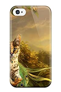 Premium Iphone 4/4s Case Protective Skin High Quality For The Lady And The Cat