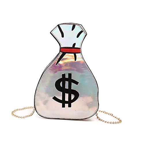 Oweisong Women's PU Hologram Laser Money bag Purse Holographic Handbags Cross-Body Messenger Shoulder Bag