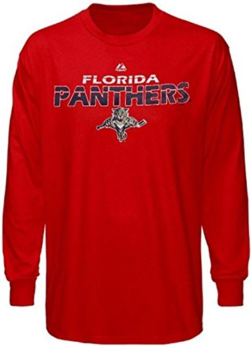 Majestic Florida Panthers NHL Licensed Thread Long Sleeve Shirt Red Big Sizes (4XL)