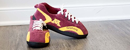 Happy Feet Mens E Womens Ncaa College Tutto Intorno Pantofole Minessota Golden Gophers
