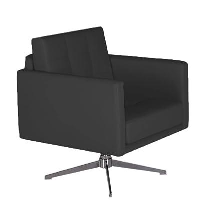 Bellini Modern Living Mason Accent Swivel Arm Chair, Black