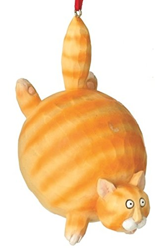Orange Tiger Tabby Fat Cat Christmas Tree Ornament