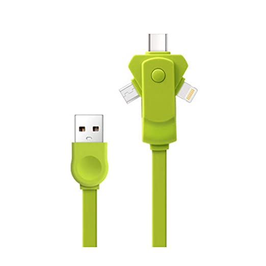 Kanggest.3 en 1 USB Cable Cargador Girar para Android/iPhone ...
