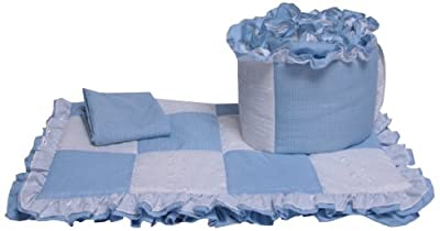Baby Doll Bedding Gingham Cradle Bedding Set Blue from Baby Doll Bedding
