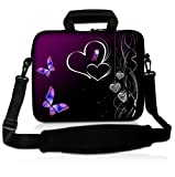 NEW Purple and heart 9.7″ 10″ 10.1″ 10.2 inch Neoprene Laptop Netbook tablet Shoulder Case Carrying Bag cover with strap Pocket For Apple iPad 1 2 ipad 3 ,new ipad 4/Amazon Kindle DX/Samsung GALAXY Note Tab 2/Acer Iconia A200 W500 A500 Tablet/Microsoft Surface RT 10.6″ Windows Pro/Asus Transformer Pad TF300 TF300T TF700/ Dell Mini 9 10 / HP Mini 110 210 /Google Android Nexus 10/Asus EEE Pad Acer Aspire One/Sumsang NC10/Lenovo ideapad thinkpad/Toshiba Sony Computer, Best Gadgets