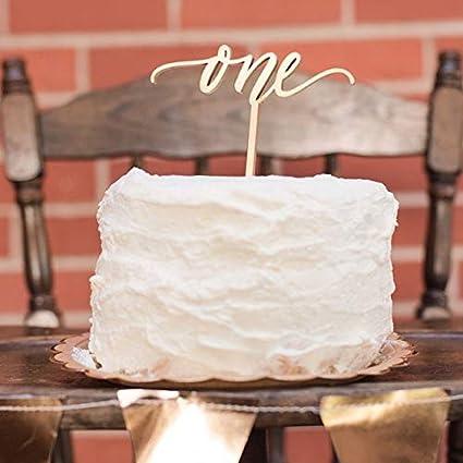 Decoración para tarta de un año de edad, decoración rústica ...