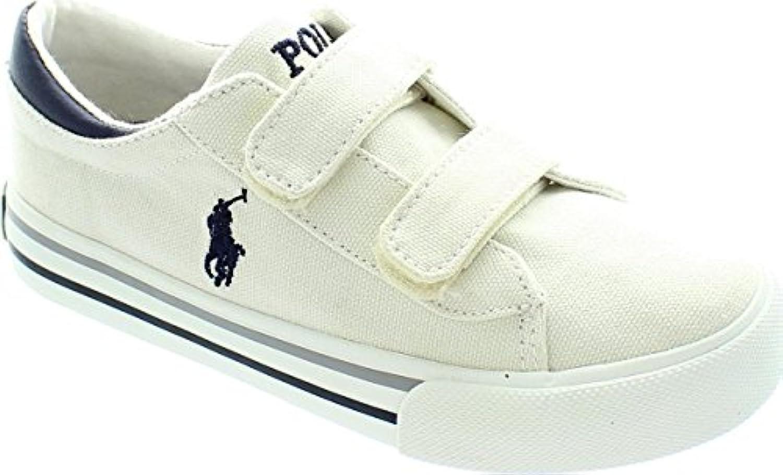 Size 8 Ralph Lauren Kid's Harrison Ez Canvas Casual Shoes