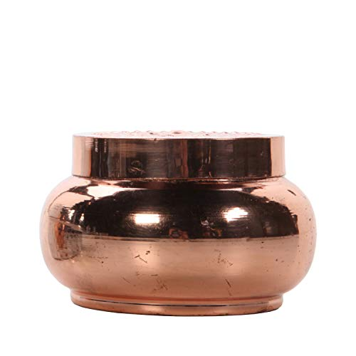 Hosley Rose Gold Afternoon Tea Filled Candle with Lid, 170 Grams/6 oz. Survival Candle, Ideal GIFT for Wedding, Party Favor, Bridal, Spa, Reiki, Meditation, Bathroom Settings P1
