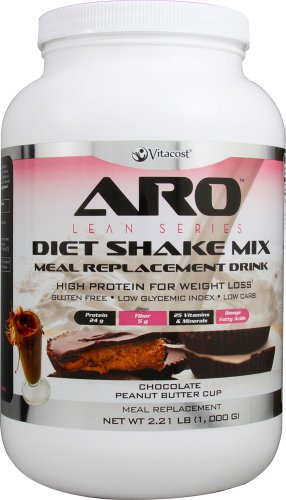 ARO-Vitacost Lean Series Diet Shake Mix Chocolate Peanut Butter Cup — 2.21 lbs (1000 g) For Sale