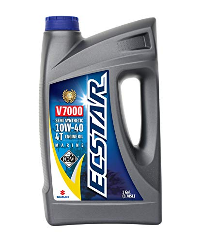 Suzuki ECSTAR V7000 10W-40 Marine 4-Stroke Engine Oil, 1 Gal (990C0-01E30-GLN) (Best Semi Synthetic Engine Oil)
