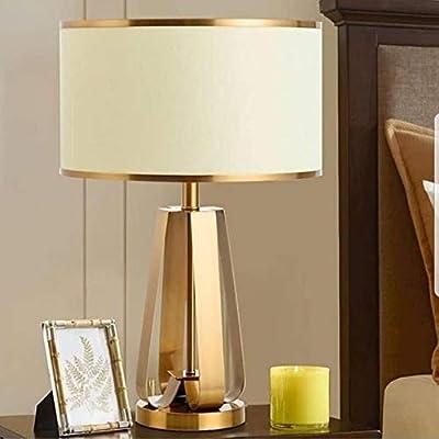 Jfhgnj Lámpara de mesa Lámpara de mesa dorada Lámpara de mesita de ...