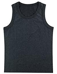 Funny World Men's Solid Thick Cotton Tank Top