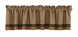 Park Designs Shade of Brown Lined Border Valance, 72 x 14\