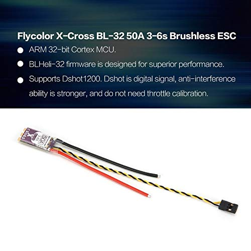 Wikiwand Flycolor X-Cross BL-32 50A 3-6s Brushless ESC for 200-280mm RC Racing Drone by Wikiwand (Image #5)