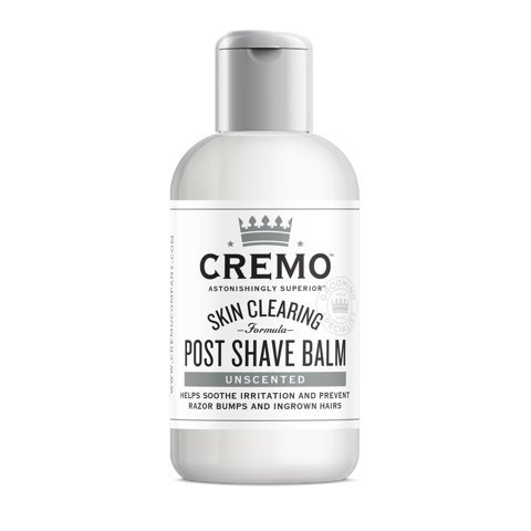 Cremo Unscented Post Shave Balm with Skin Clearing Formula, Helps Prevent Razor Bumps, Blemishes and Ingrown Hairs, 3 Ounce