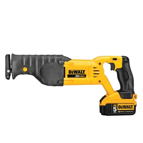 - DEWALT 20V MAX Cordless Reciprocating Saw Kit (DCS380P1)